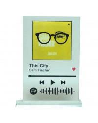 Placa Cristal Spotify Code...
