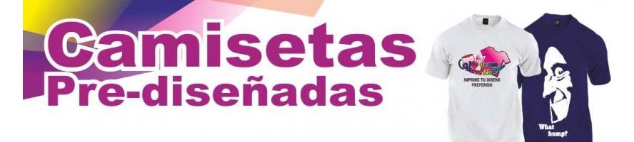 CAMISETAS PRE-DISEÑADAS